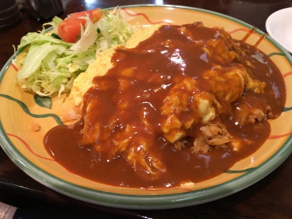【オチボ日記】奈良で食べたオムライス大盛りから